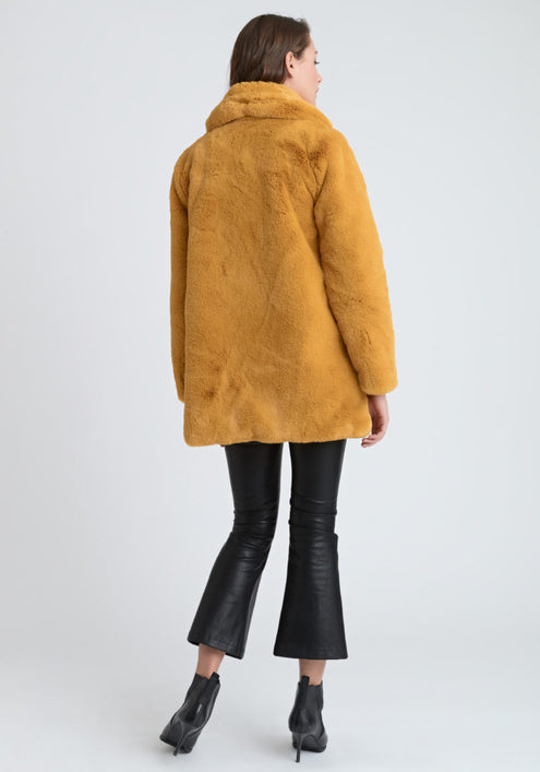 Faux Fur Yellow