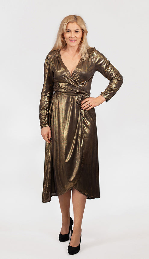 Disco Dress Gold