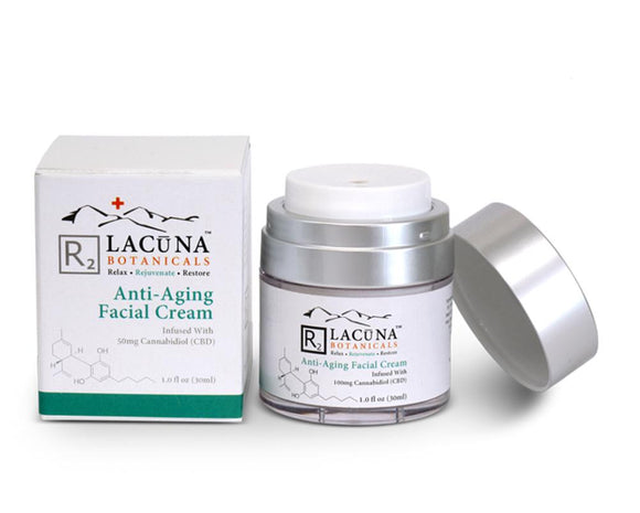 LACUNA BOTANICALS Anti-Aging Nightly Facial Cream 50 ml / 1.7 oz - Hempazon.com