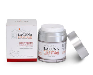 LACUNA BOTANICALS Deep Tissue - CBD Infused Massage & Pain Relief Cream 50 ml / 1.7 oz - Hempazon.com