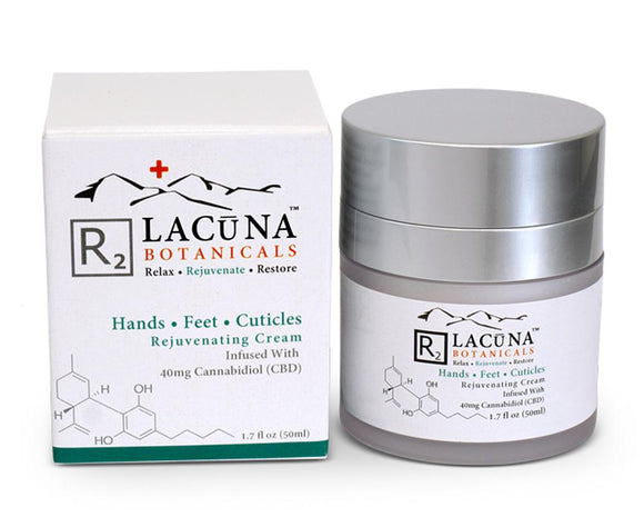 LACUNA BOTANICALS Hands, Feet & Cuticle Cream 50ml / 1.7oz - Hempazon.com