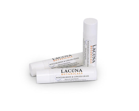 LACUNA BOTANICALS CBD Infused Lip Balm - Wintergreen & Ginger Grass