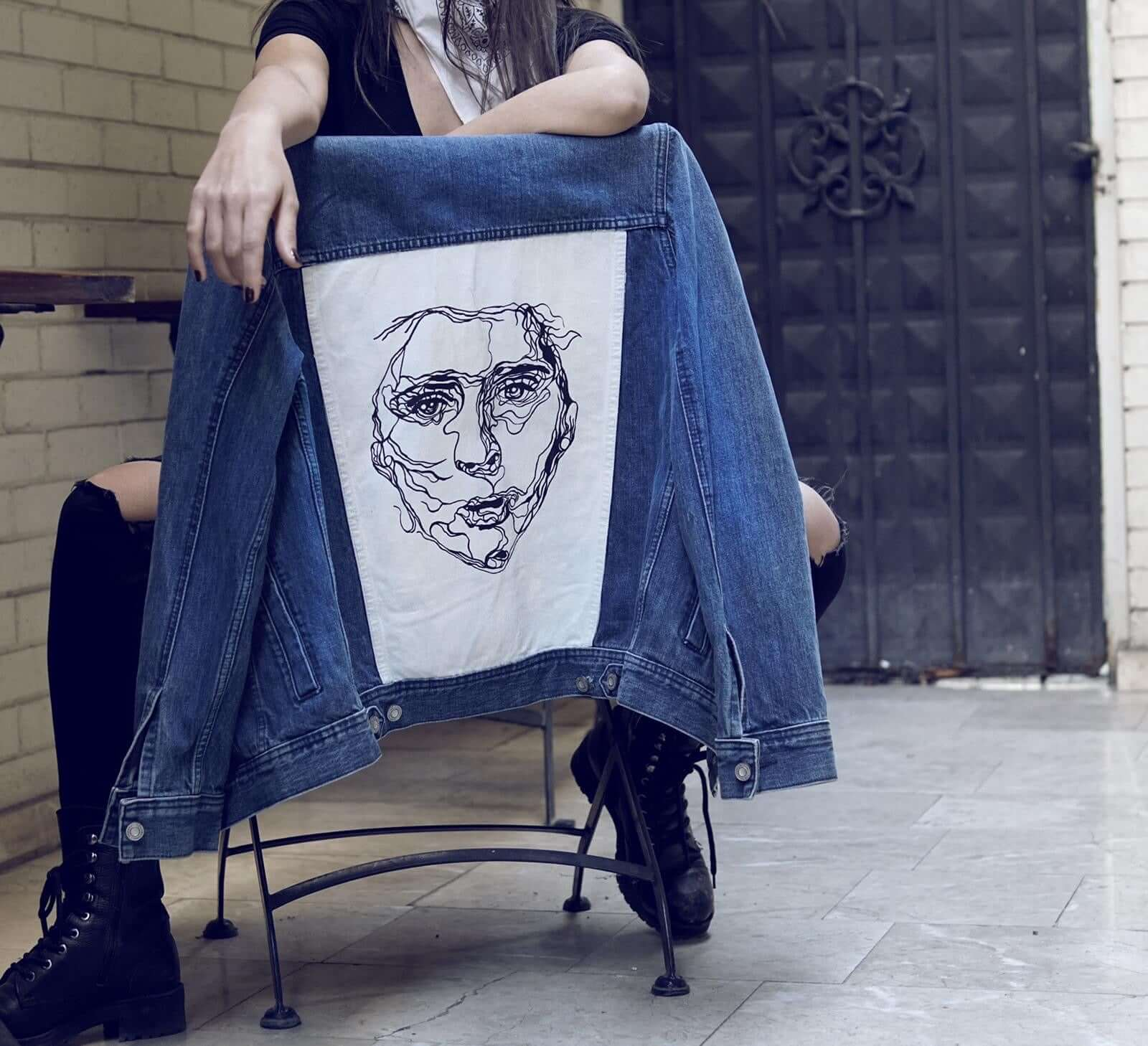 Hand Painted Jean Jacket (Mix Design) - Mystylebox