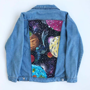 Hand Painted Jean Jacket (Space Design) - Mystylebox