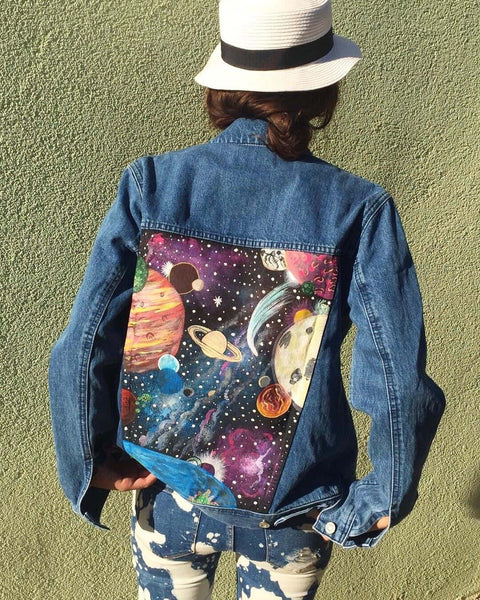 Hand Painted Jean Jacket (Mix Design) - Mystylebox.ca
