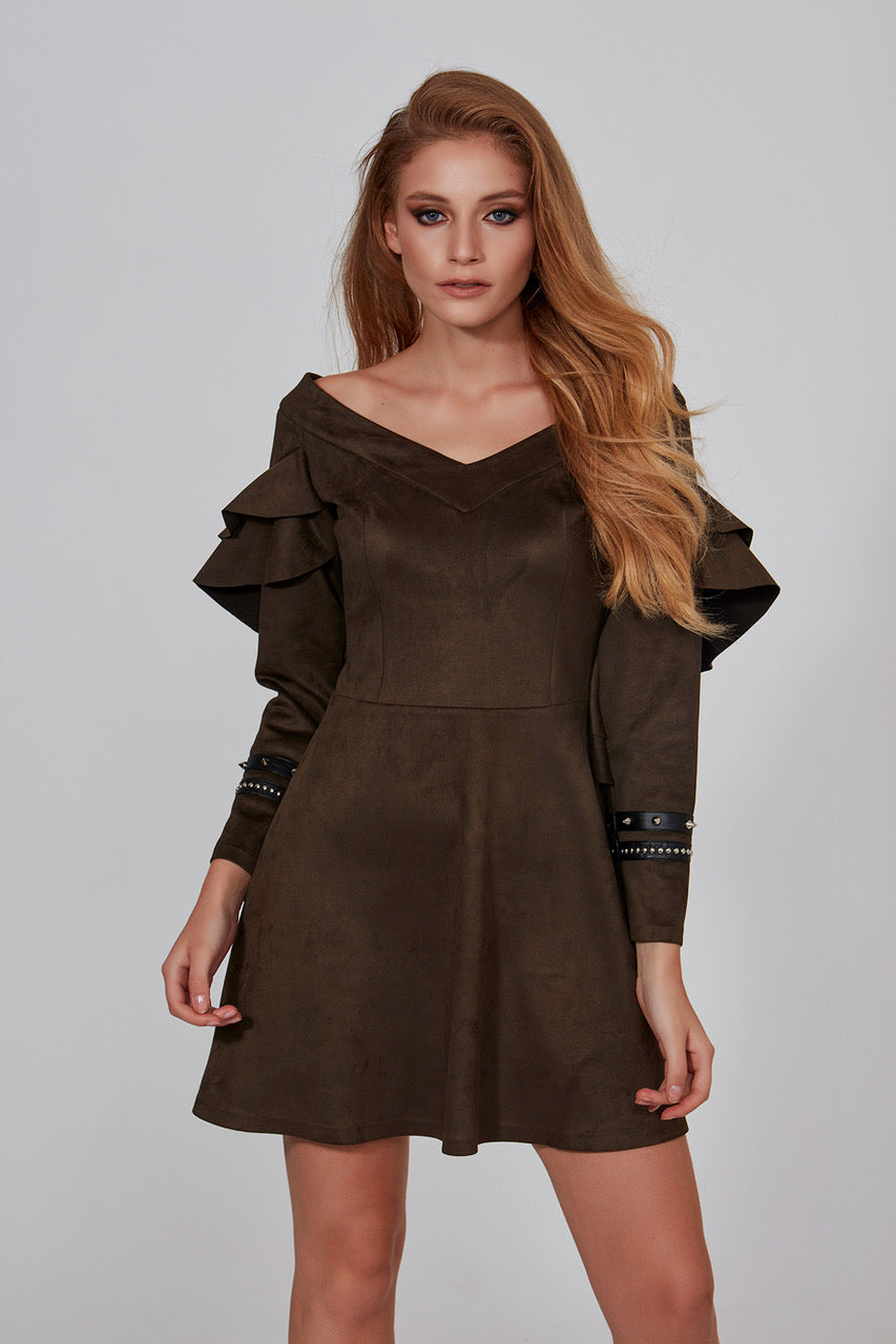 Suede Dress - Mystylebox
