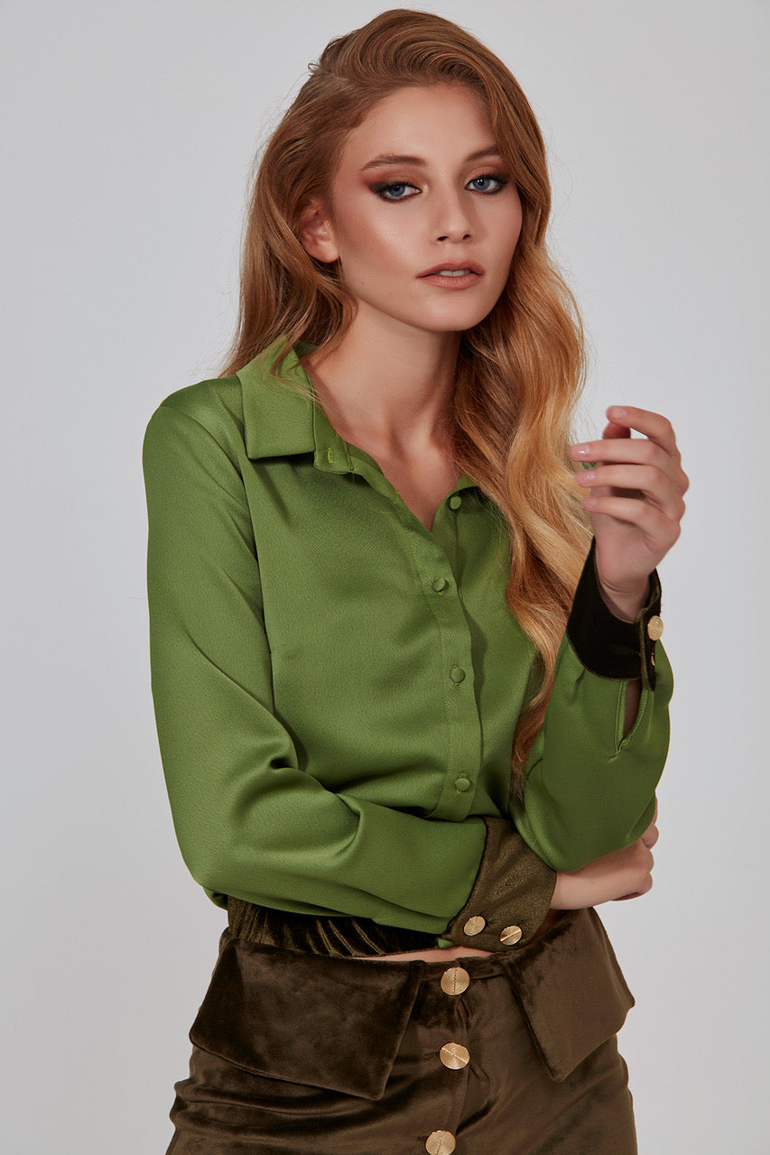 Satin Blouse - Mystylebox