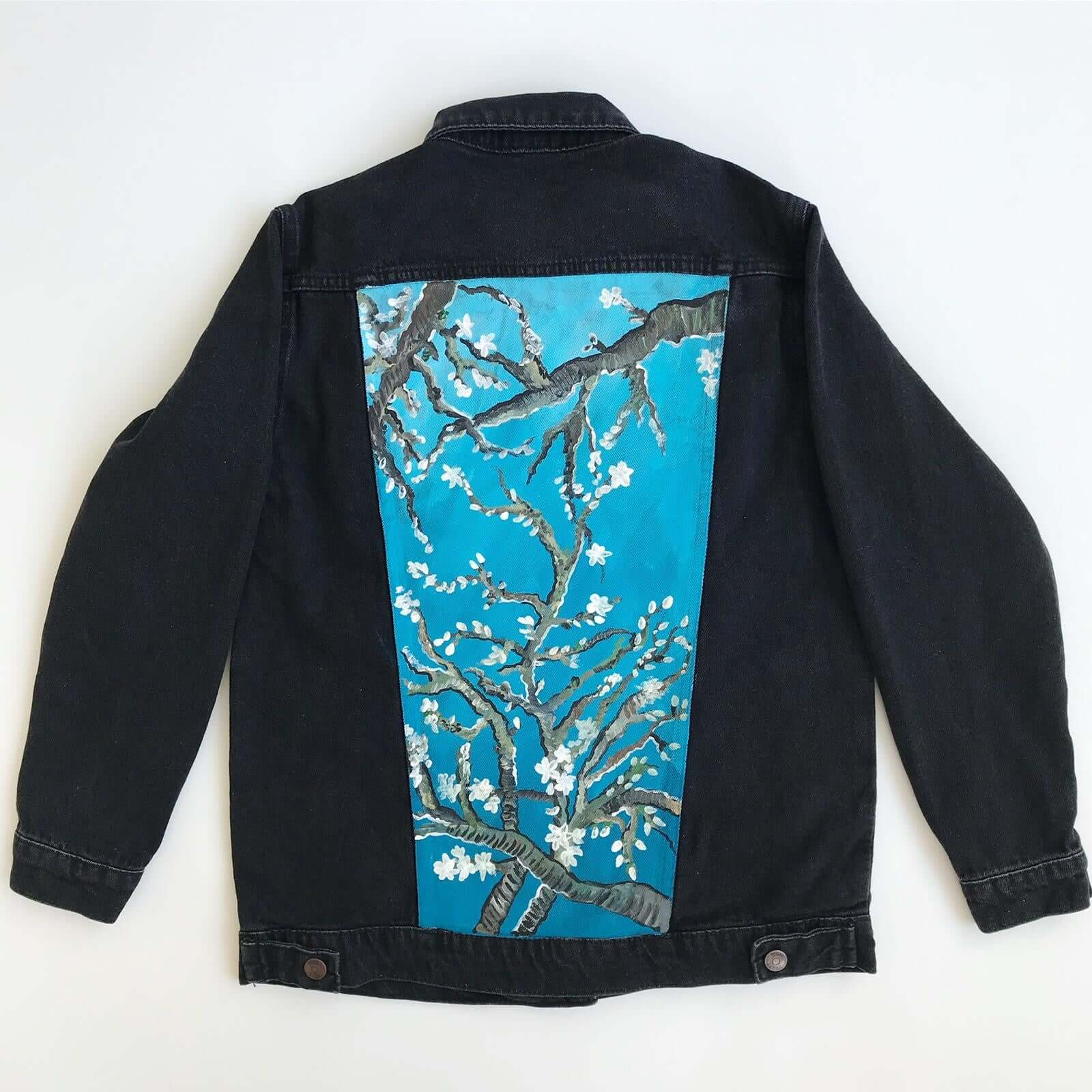 Hand Painted Jean Jacket (Floral Design) - Mystylebox