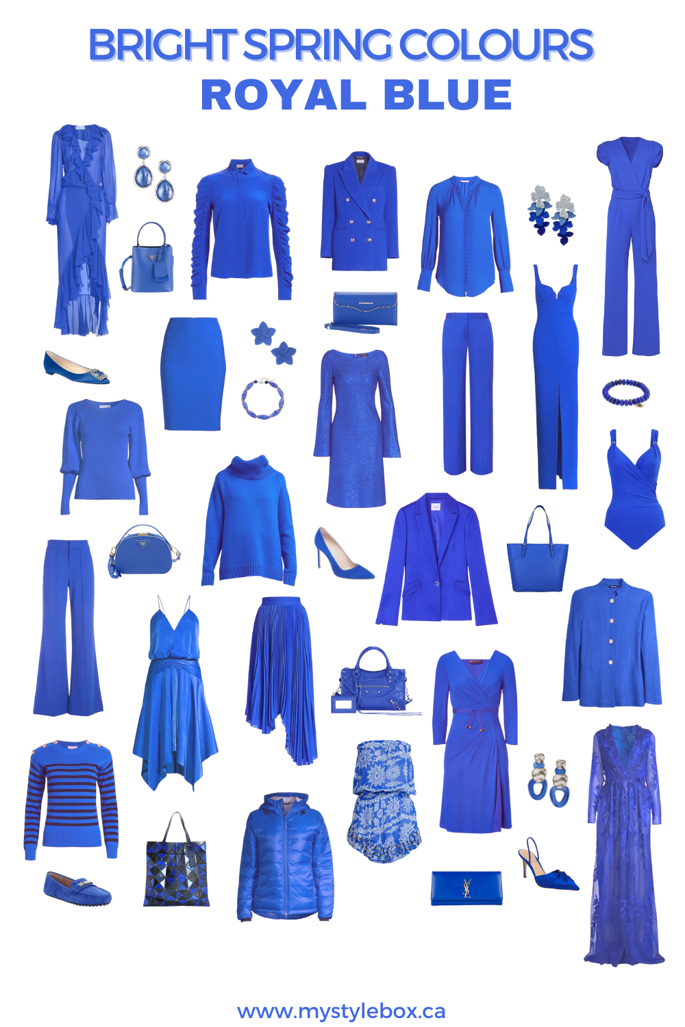 BRIGHT SPRING COLOURS ROYAL BLUE