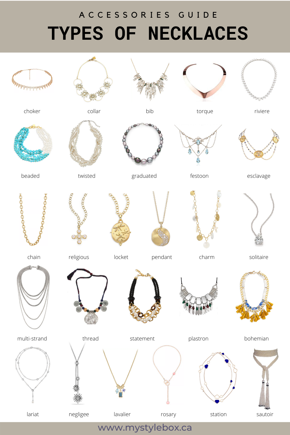 Types of Necklaces
