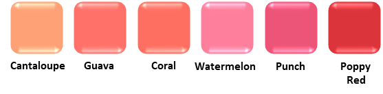 True Spring Blush Colours