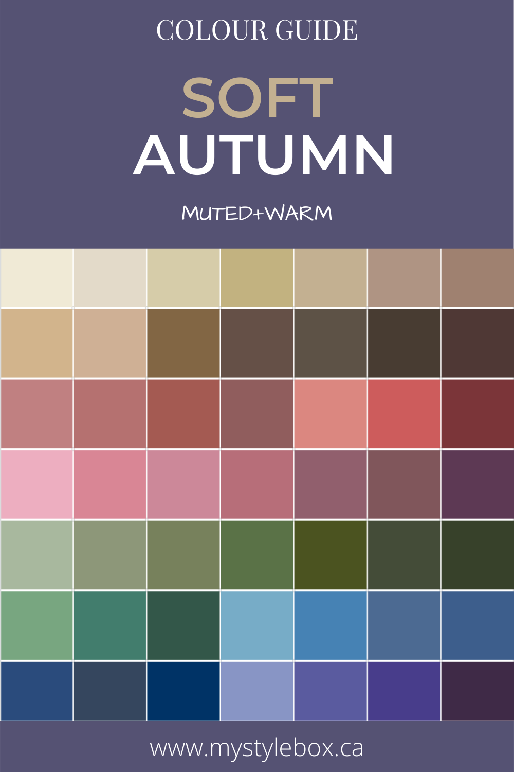 Soft Autumn Colour Guide
