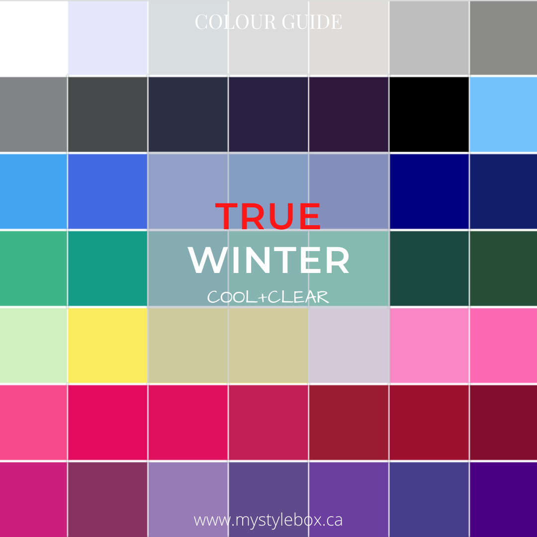 True Winter Colour Guide
