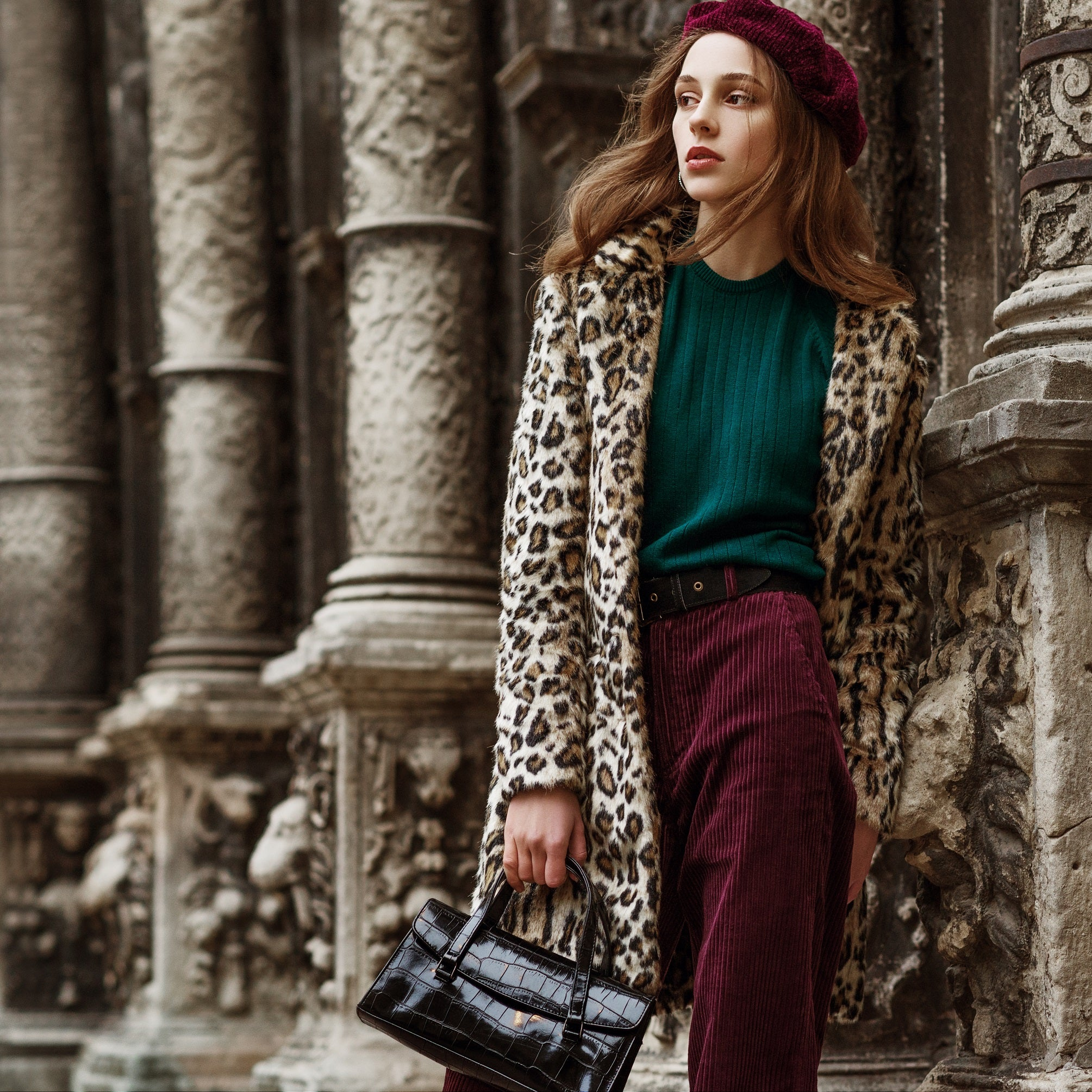 Complimentary look with animal print