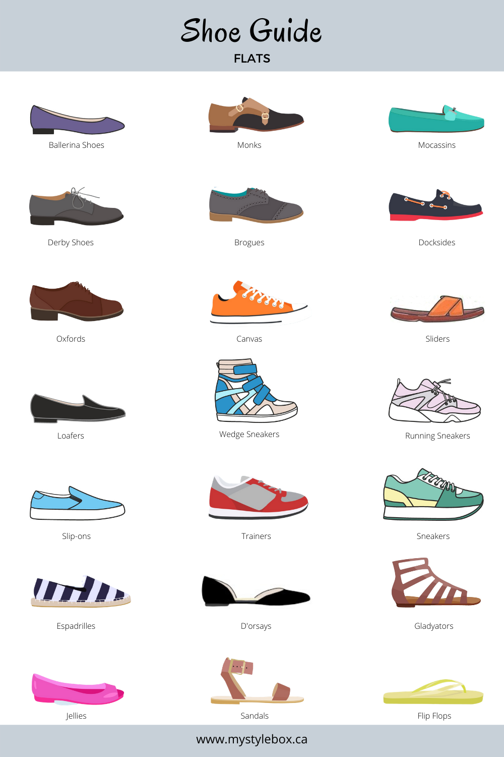 Types of Flat Shoes