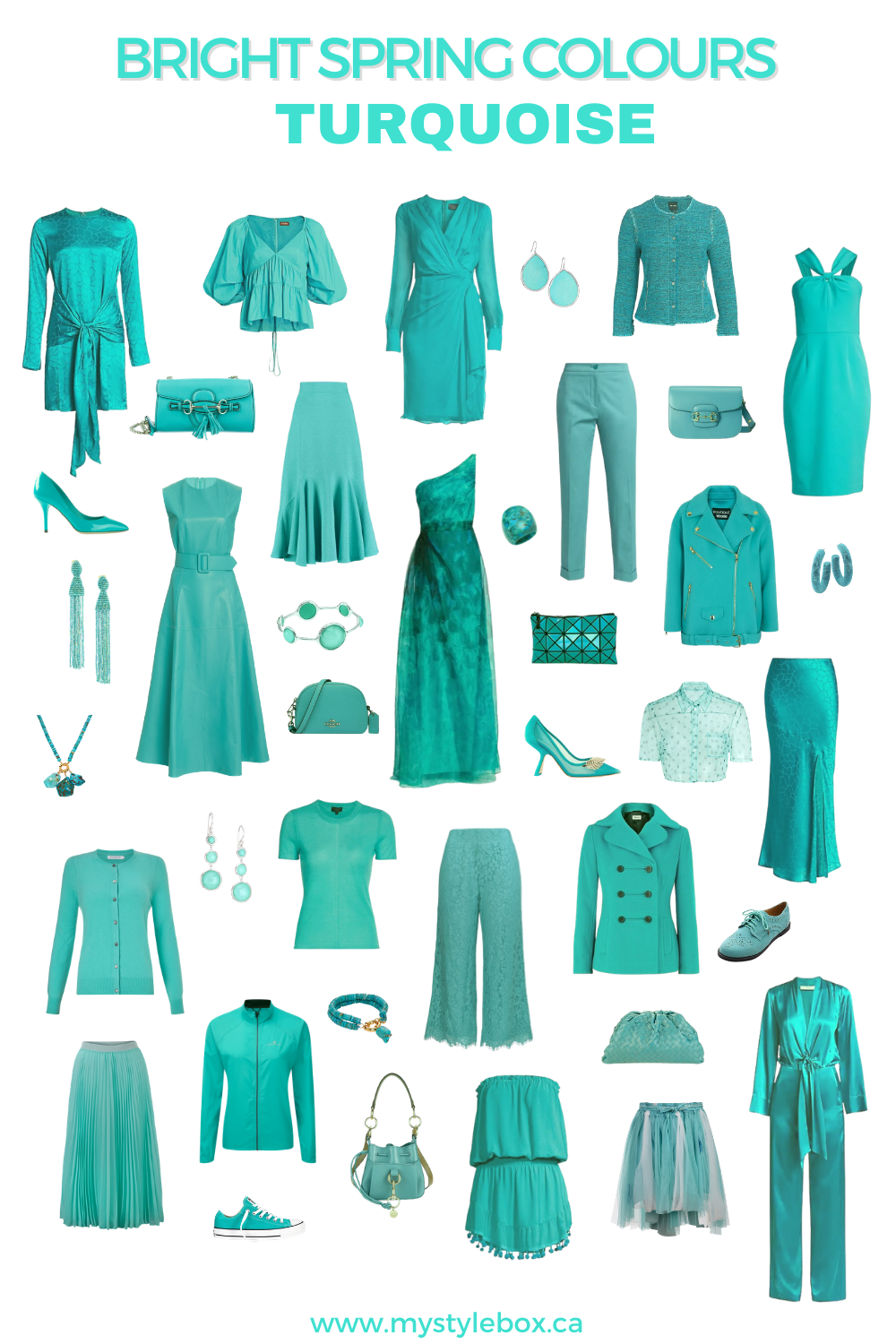 BRIGHT SPRING COLOURS TURQUOISE