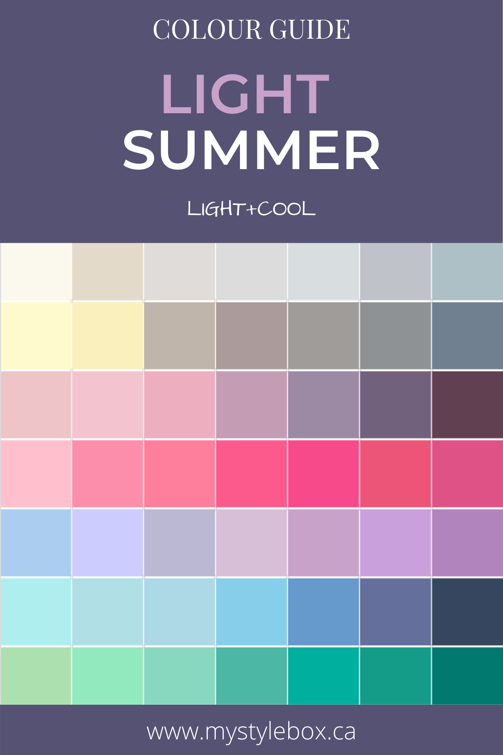 Light Summer Colour Guide