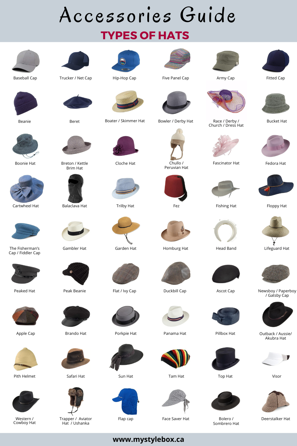 Types of Hats