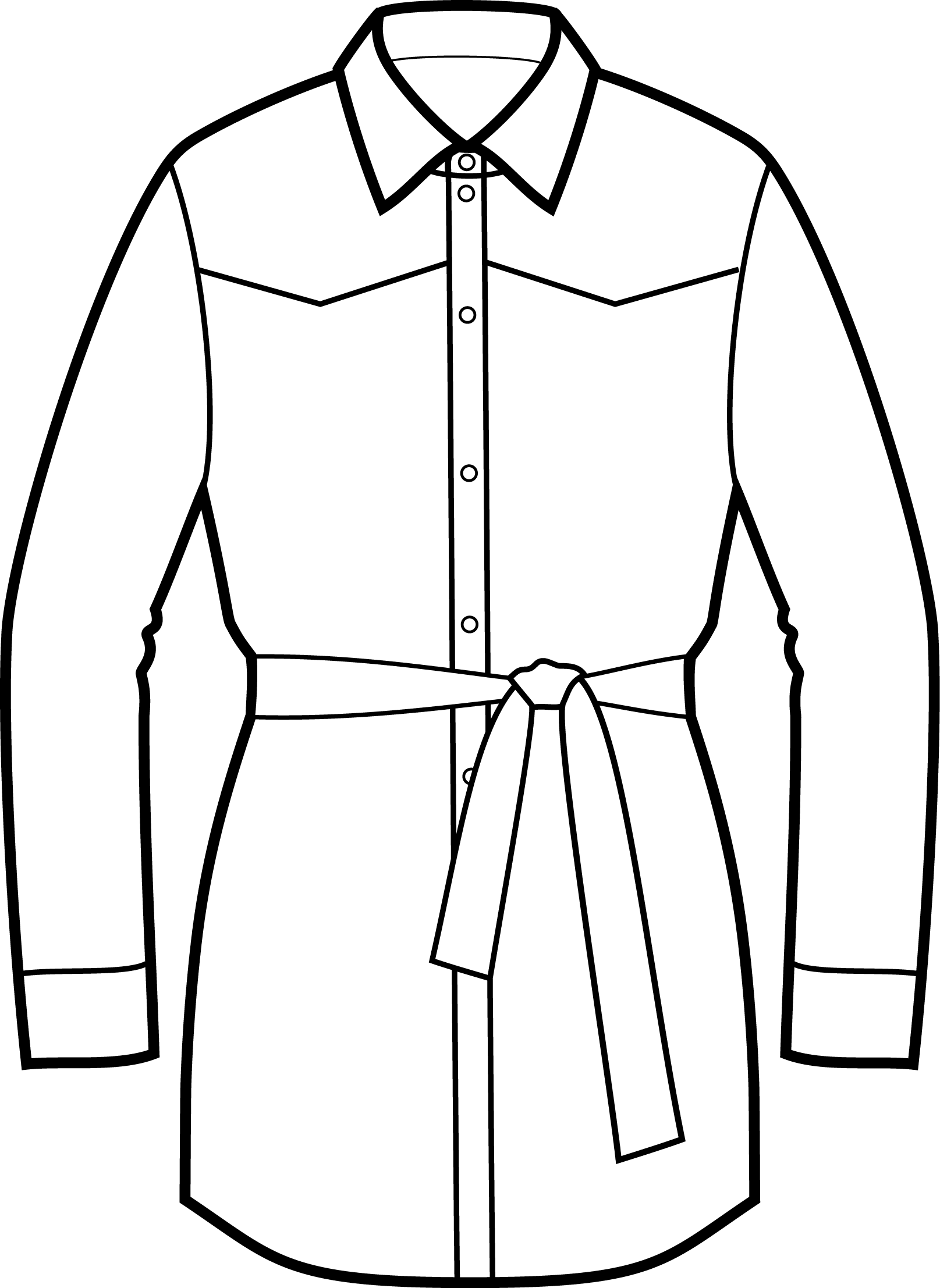 Belted Shirt