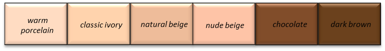 Bright Spring Foundation Colours