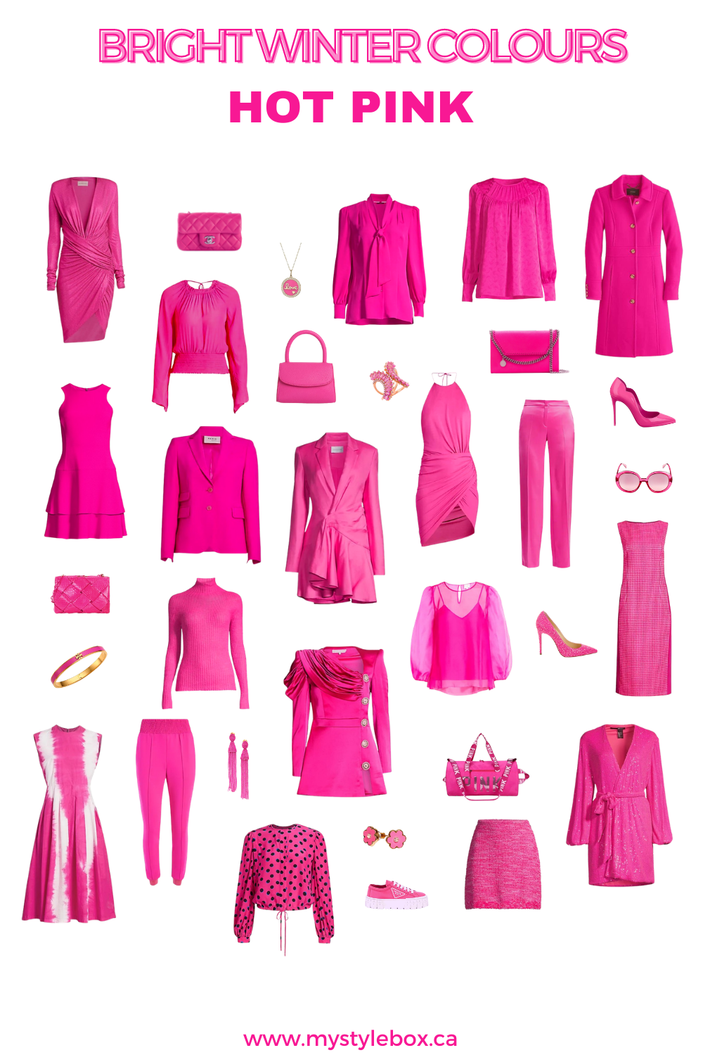BRIGHT WINTER COLOURS HOT PINK