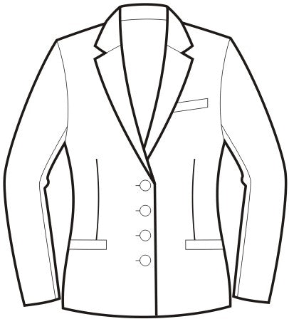 Single Breasted Fitted Jacket