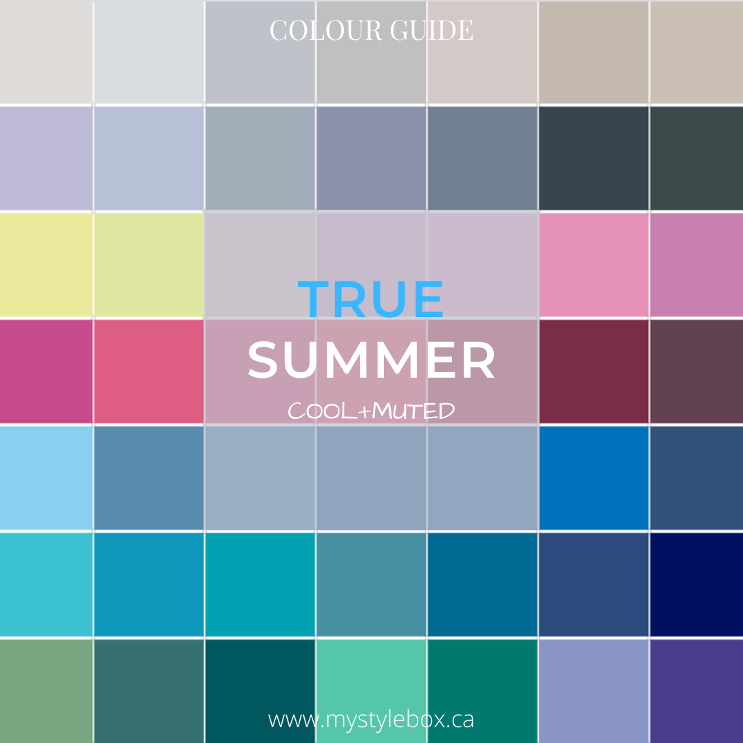 True Summer Colour Guide