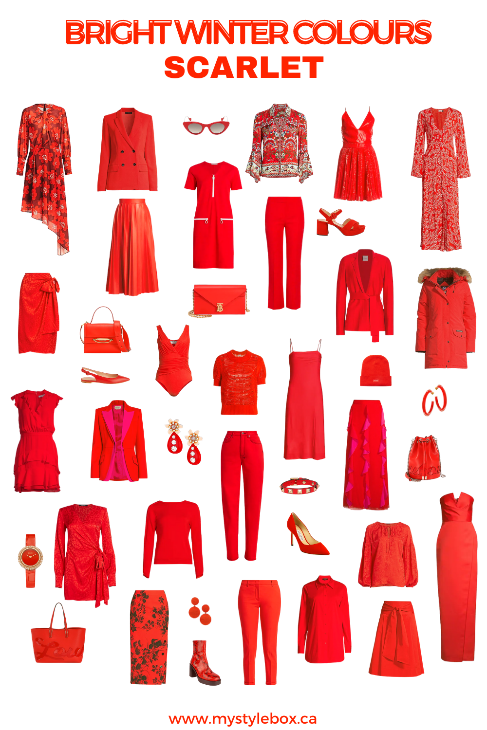 BRIGHT WINTER COLOURS SCARLET