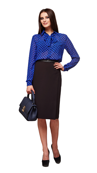 Woman with casual professional attire