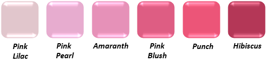 True Summer Blush Colours