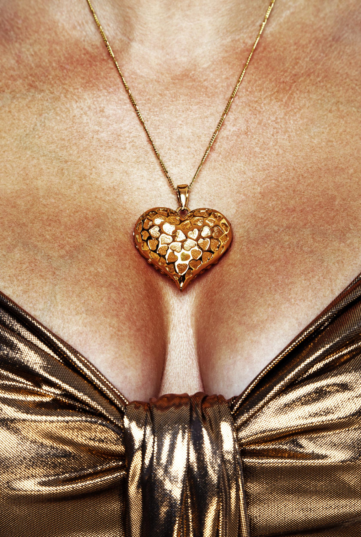 Heart Pendant at decollete