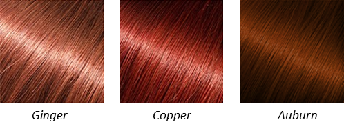 Warm Red Hair Colours
