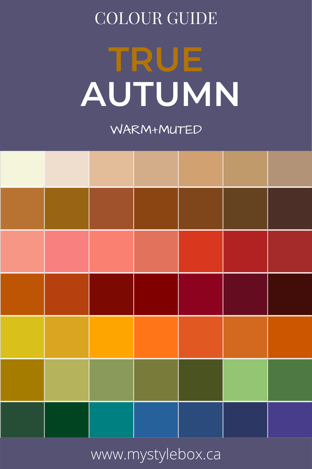 True Autumn Colour Guide