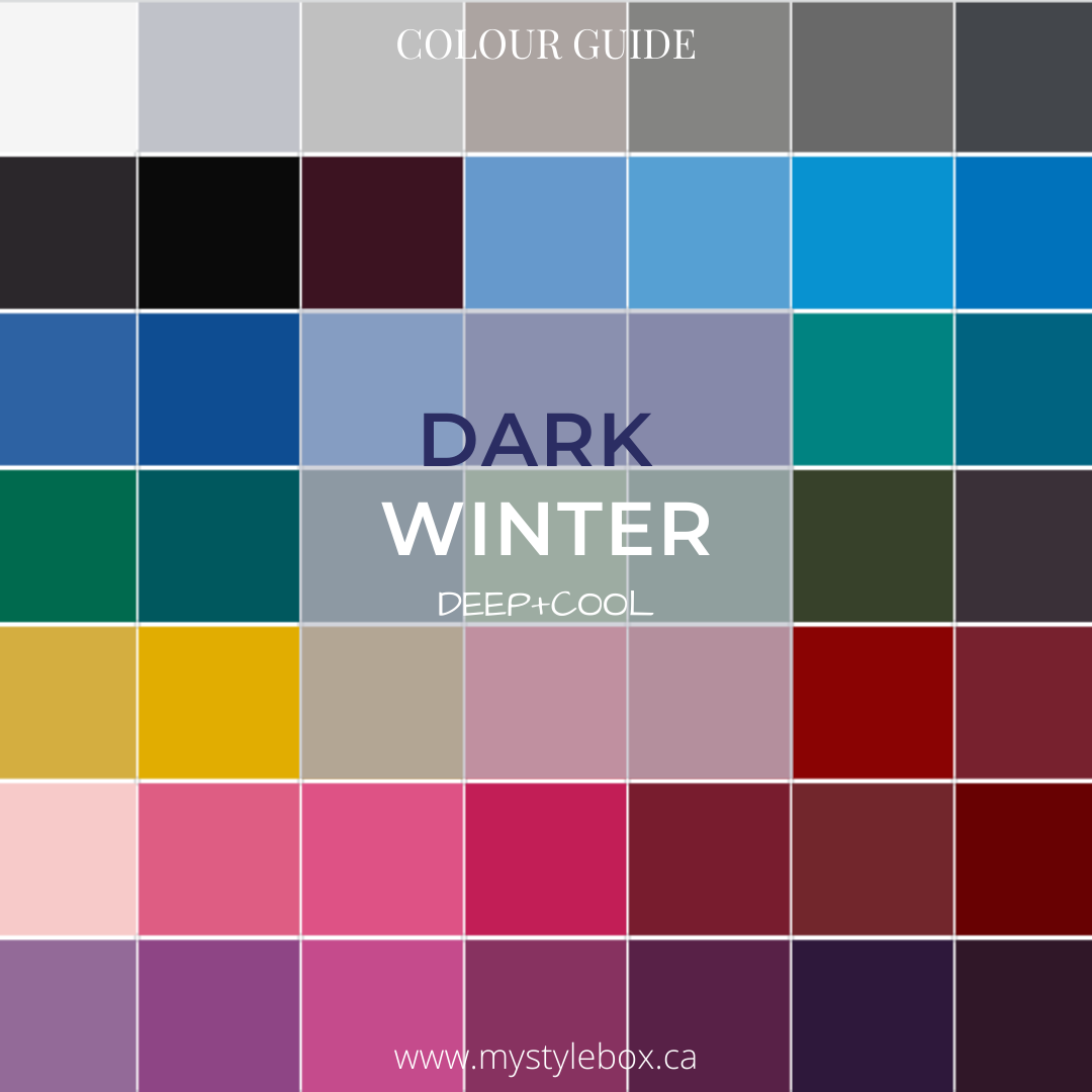 Dark Winter Colour Guide