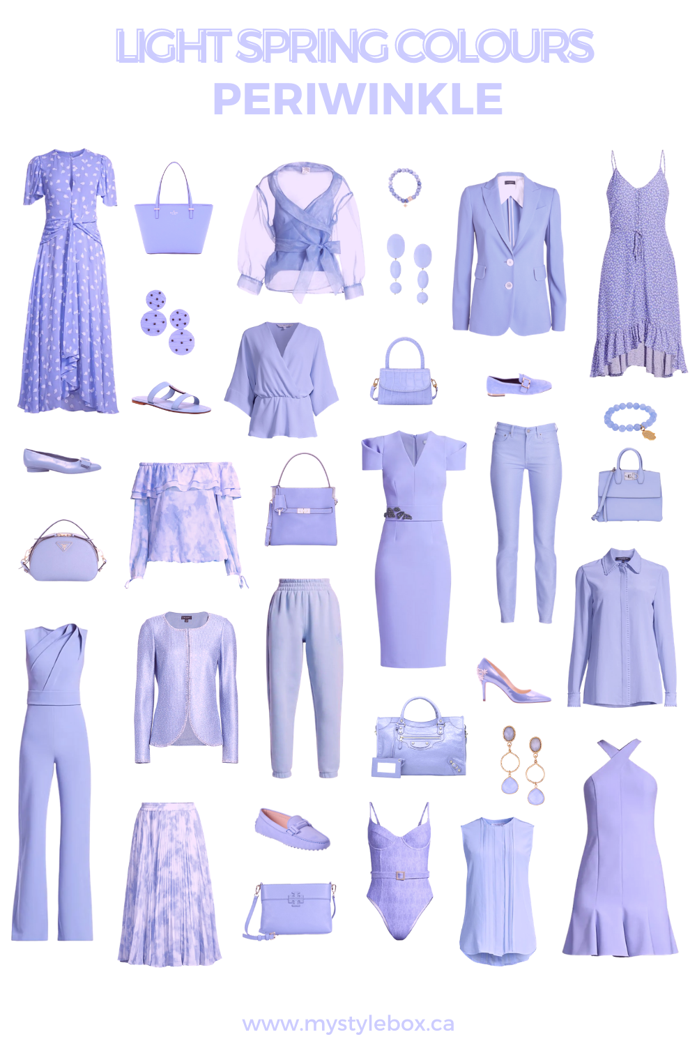 LIGHT SPRING COLOURS PERIWINKLE