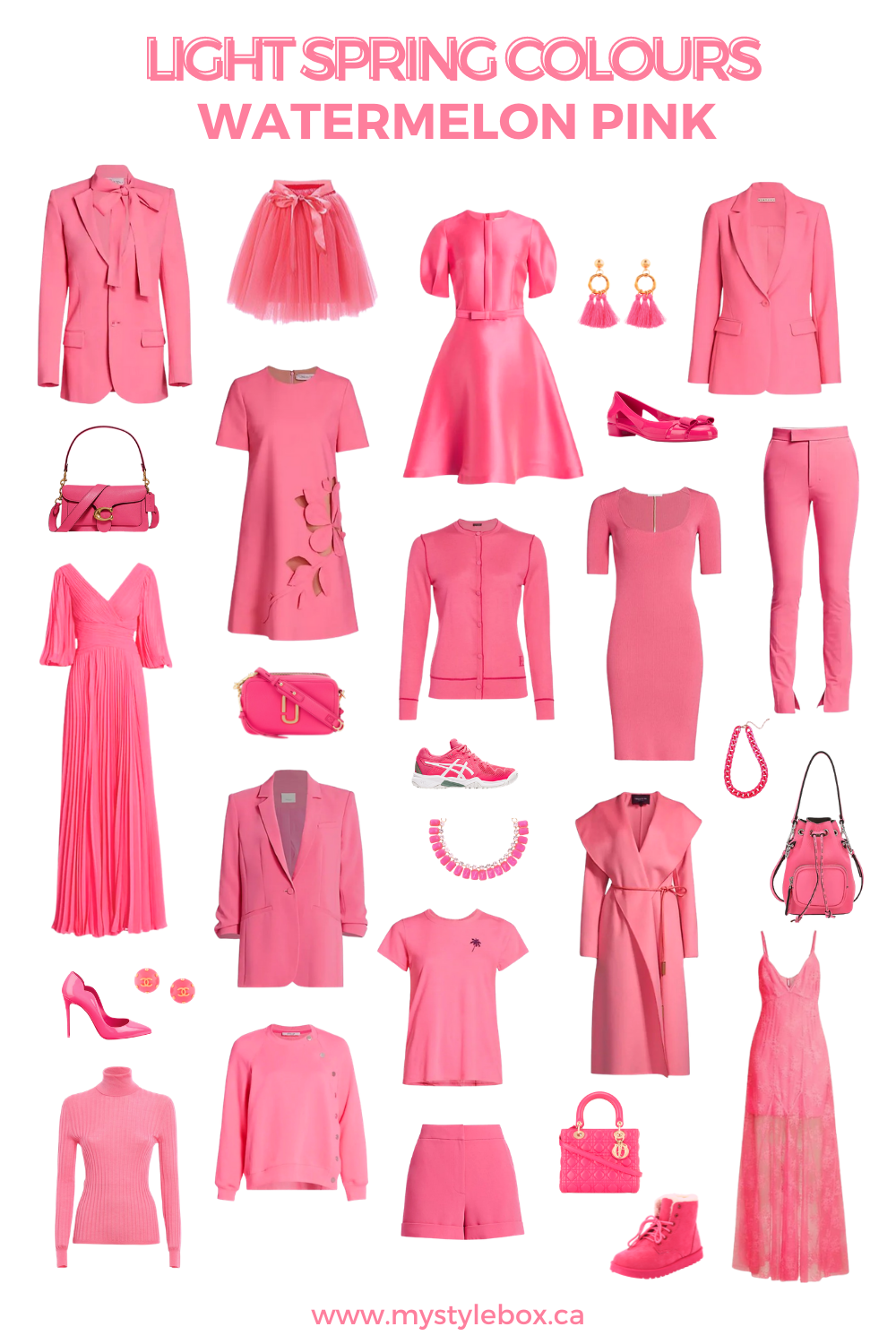 LIGHT SPRING COLOURS WATERMELON PINK