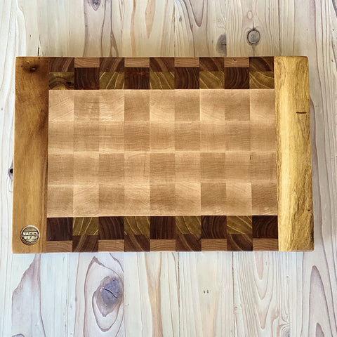 Mr. Bush Pecan Gold End Grain Cutting Board