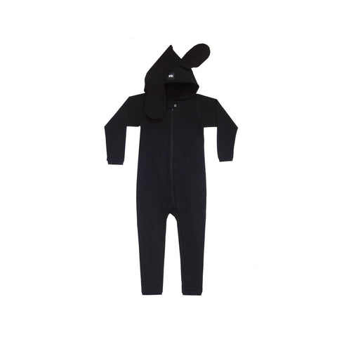 "Hooded Cotton Onesie ""Day/night"""