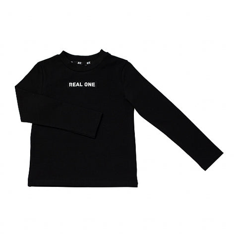 "Long Sleeve T-shirt ""Real One"" Black"