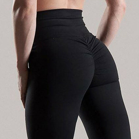 Leggins Push Up Sexy Damen Runder Po Sport Yoga Leggings Hose Sporthose Gerafft