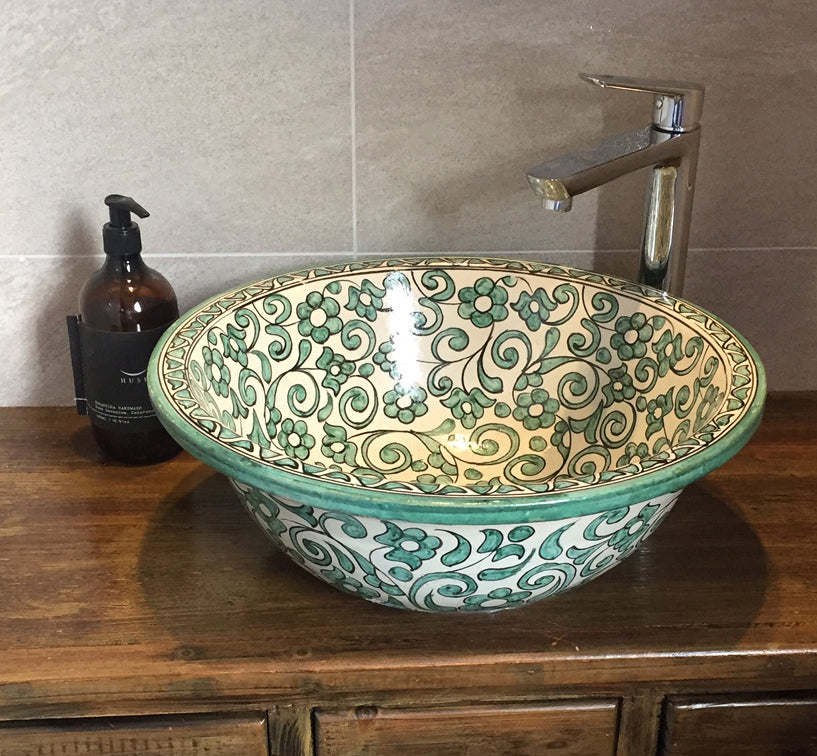 Moroccan sinks: They can be a drop-in or a vessel basin