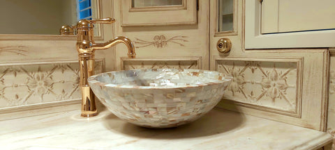 mother of pearl sink