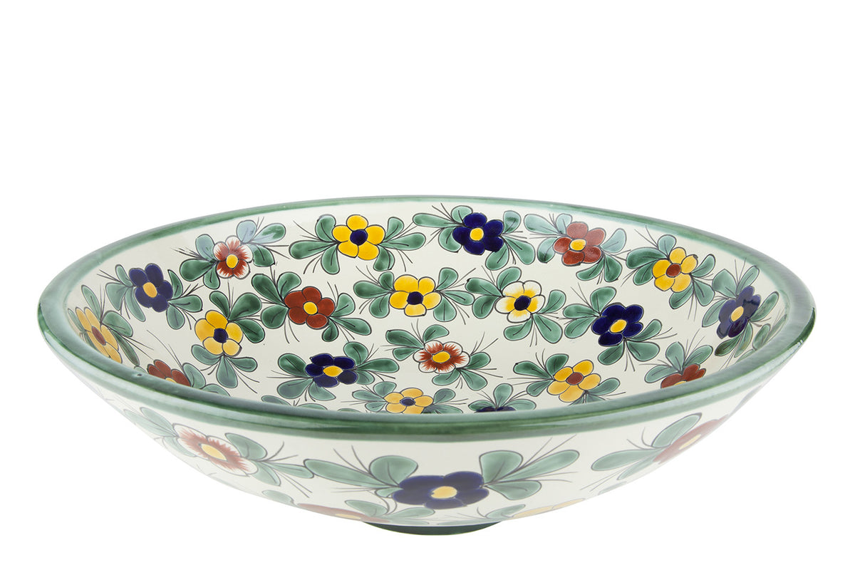 Mexican Consuela Spherical Vessel Hand-painted Bathroom Basin - Unique Sinks