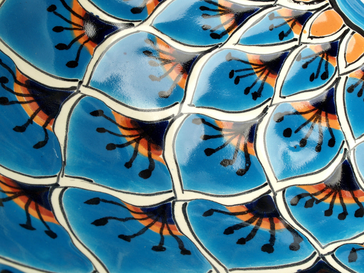 Mexican Aqua Azul Large Drop-In Hand-painted Bathroom Basin - Unique Sinks