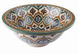 Moroccan BINYA Hand-Painted Bathroom Sink