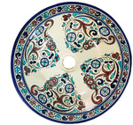 Moroccan MERYEM Hand-Painted Bathroom Sink