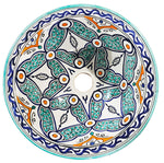 Moroccan HADIYA Hand-Painted Bathroom Sink