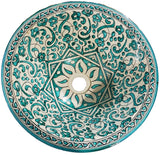 Moroccan SALIMA Hand-Painted Bathroom Sink