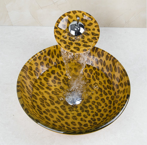 Glass Sink LEOPARD PRINT - Unique Sinks