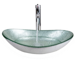 Glass Sink SILVER OVAL - Unique Sinks
